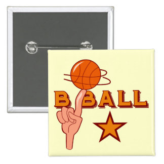 Basketball Star T-shirts and Gifts 2 Inch Square Button