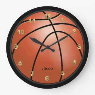 Basketball Style | Personalize Large Clock