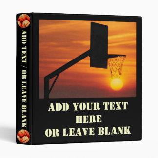 Basketball Sunset 3 Ring Binders