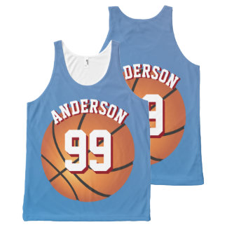 Basketball Super Fan Fantasy League Team All-Over-Print Tank Top