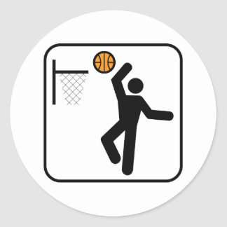 Basketball Symbol Sticker