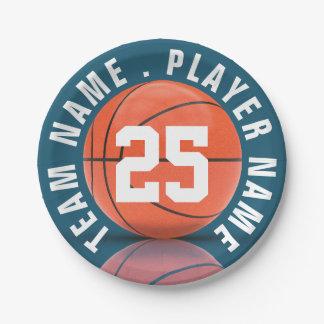 Basketball Team Paper Plate