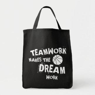 Basketball Teamwork Tote Bag