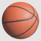 BASKETball texture Classic Round Sticker