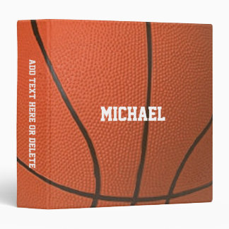 Basketball Texture Personalized Binders