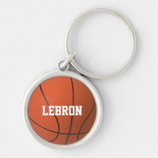 Basketball Texture Personalized Keychain