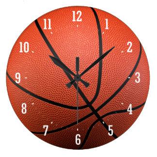 Basketball Texture   Time for Sport Wallclocks