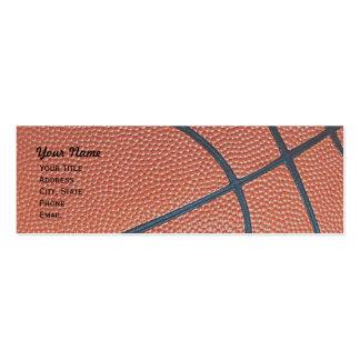 Basketball _textured_r,w,b hoop net skinny business card templates