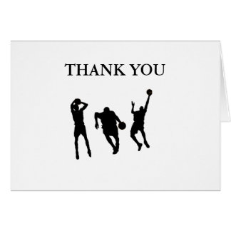 Basketball Thank You Card