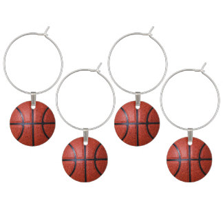Basketball Theme Adult Party Ideas Wine Glass Charms