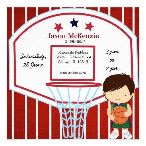 Basketball theme custom invites