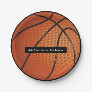 Basketball Theme Party Plates 7 Inch Paper Plate