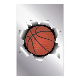 basketball thru metal sheet stationery