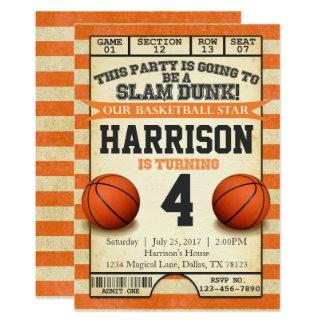 basketball birthday invitations & announcements | zazzle canada, Birthday invitations