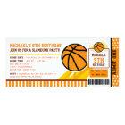 Basketball Ticket Pass Birthday Invitation