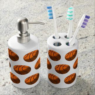 Basketball Toothbrush Holder & Soap Dispenser