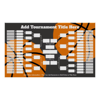 Basketball Tournament Bracket - 64 Teams Poster