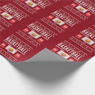 Basketball Ugly Christmas Sweater Wrapping Paper