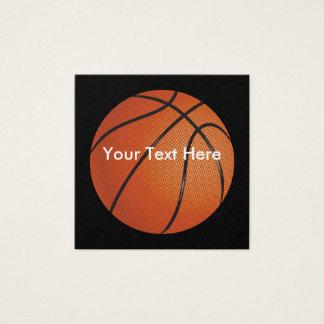 Basketball Unique Design Square Business Card