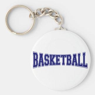 Basketball University Style Basic Round Button Keychain