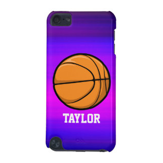 Basketball; Vibrant Violet Blue and Magenta iPod Touch (5th Generation) Cover