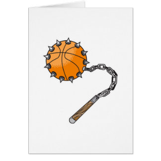 basketball whip mace greeting card