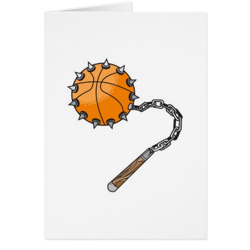 basketball whip mace greeting card