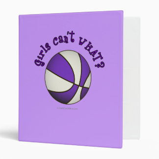 Basketball - White/Purple Vinyl Binder