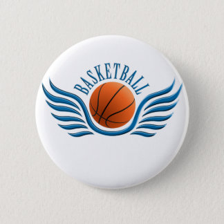 basketball wings 2 inch round button