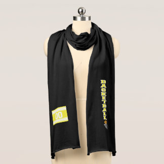 Basketball Yellow Letter  - Personalize Scarf