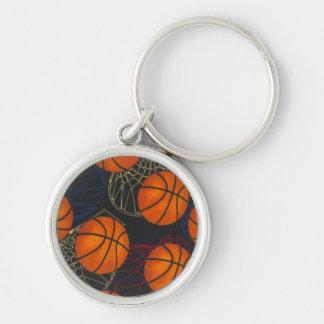 Basketballs and Hoops Keychain