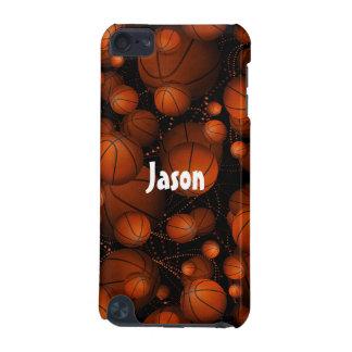 Basketballs bouncing everywhere name orange black iPod touch 5G case