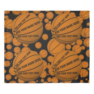 Basketballs Duvet Cover