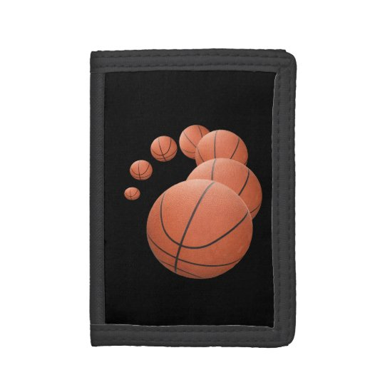 Basketballs in the Air Trifold Wallets
