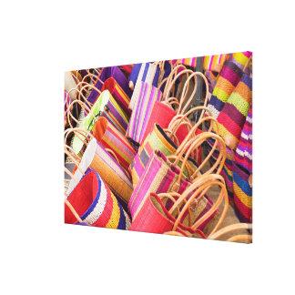 Baskets For Sale At Market Canvas Print