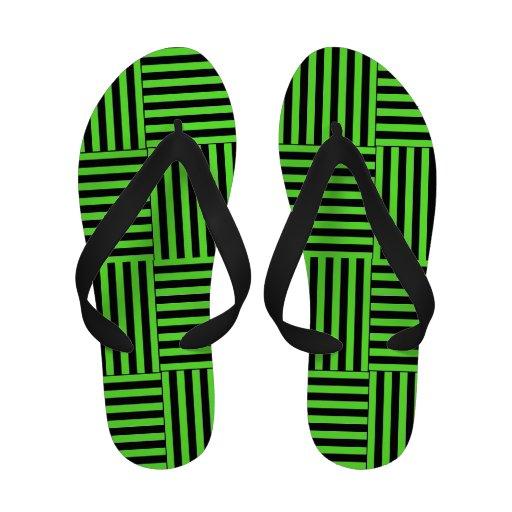 Basketweave Design Flip Flops Sandals