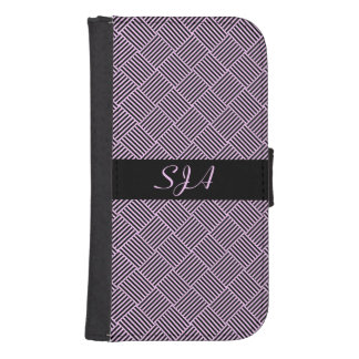 Basketweave Design Phone Wallet