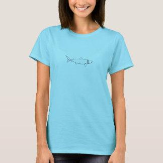Basking Shark Logo (line art) T-Shirt