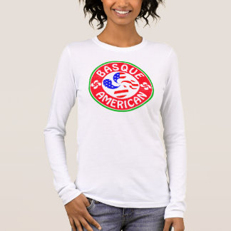 Basque American Euskara Lauburu Cross Long Sleeve T-Shirt