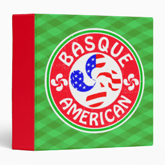 Basque American Euskara Lauburu Cross Vinyl Binders