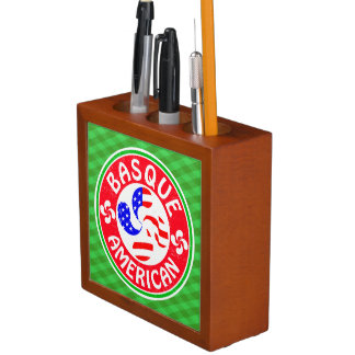 Basque American Lauburu Cross Pen Holder