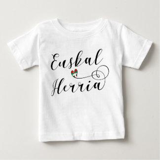 Basque Country Heart Tee Shirt Euskal Herria