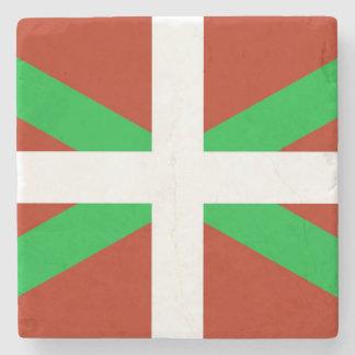 Basque Flag Ikurrina Drink Coaster Stone Beverage Coaster