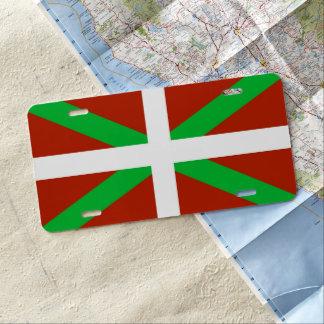 Basque Flag Ikurrina License Plate
