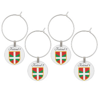 Basque Flag Wine Charm