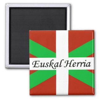 Basque Flag With Euskal Herria Magnet