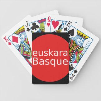 Basque Language Design Bicycle Playing Cards
