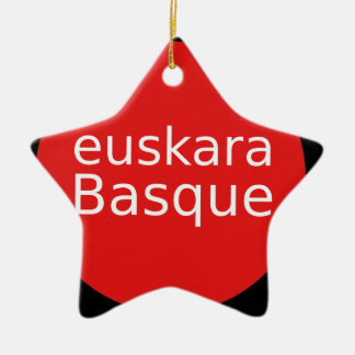 Basque Language Design Ceramic Ornament