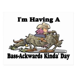 Bass-Ackwards Postcard
