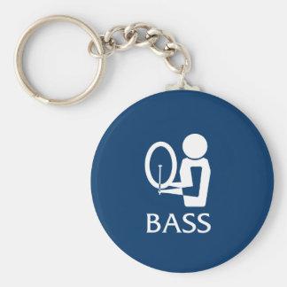 Bass Basic Round Button Keychain